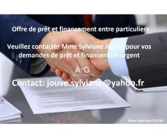 Prêt Simple Et Fiable Entre Particulers // jouve.sylviane@yahoo.fr